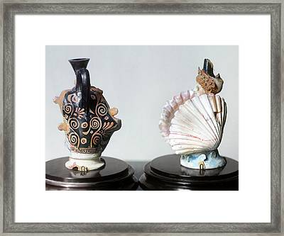 Etruscan Vases Framed Print