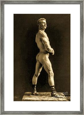Eugen Sandow Framed Print by Napoleon Sarony