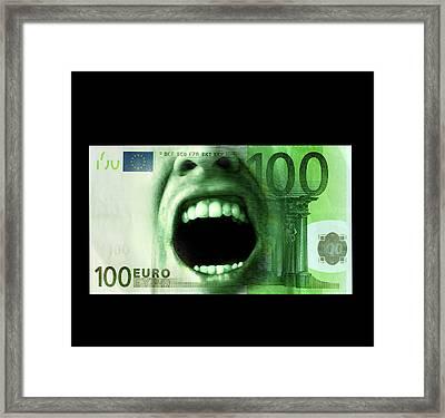 Euro Crisis Framed Print
