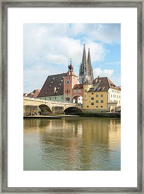 Europe, Germany, Bavaria, Regensberg Framed Print by Jim Engelbrecht