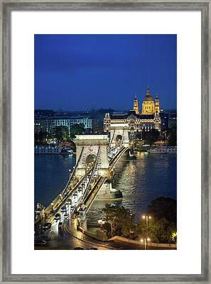 Europe, Hungary, Budapest, Chain Framed Print by Jim Engelbrecht