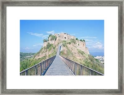 Europe, Italy, Umbria, Civita, Bridge Framed Print