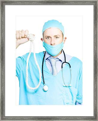 Euthanasia And Assisted Suicide Framed Print by Jorgo Photography - Wall Art Gallery