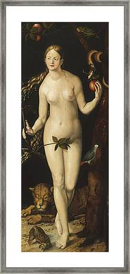 Eve Framed Print by Albrecht Durer