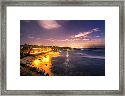Framed Print featuring the photograph Evening At Hookipa by Hawaii  Fine Art Photography