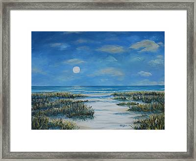 Evening Calm Framed Print by Stanton Allaben