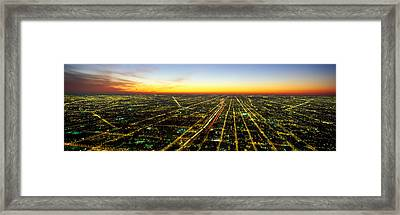 Evening Chicago Il Framed Print
