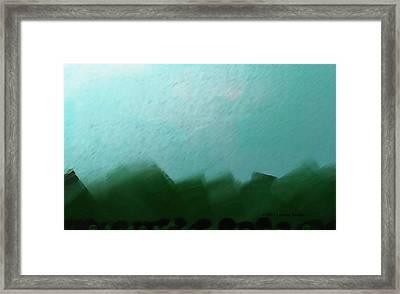 Evergreens Framed Print