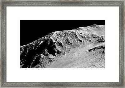 Evidence Of Water On Mars Framed Print by Nasa/jpl-caltech/univ. Of Arizona