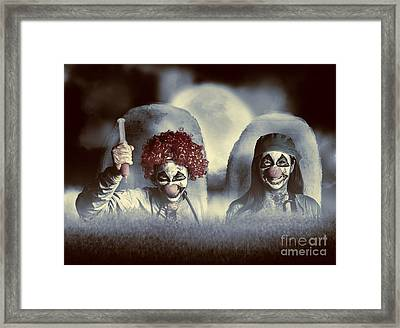 Evil Zombie Clown Doctors Rising From The Dead Framed Print by Jorgo Photography - Wall Art Gallery