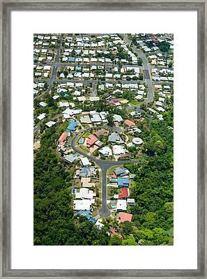 Exclusive Houses On Hilltop Cul-de-sac Framed Print