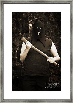 Executioner With Axe Framed Print