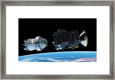Exomars Spacecraft Deployment Framed Print by European Space Agency/atg Medialab
