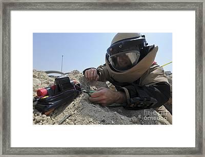 Explosive Ordnance Disposal Technician Framed Print by Stocktrek Images