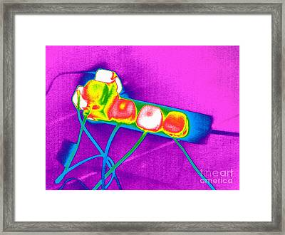 Extension Lead, Thermogram Framed Print by Tony McConnell