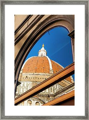 Exterior Of The Cathedral Santa Maria Framed Print by Nico Tondini