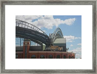 Exterior View Of The Miller Park Framed Print by Panoramic Images