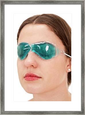 Eye Gel Mask Framed Print by Lea Paterson