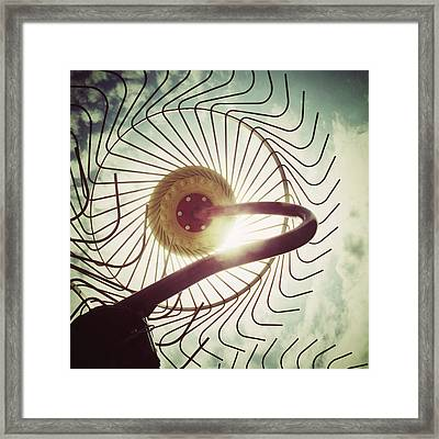 Eye Harvest Framed Print