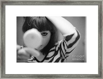Framed Print featuring the photograph eye by Steven Macanka