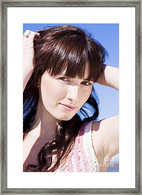 Eyes Of Desire Framed Print by Jorgo Photography - Wall Art Gallery