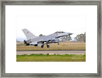 F-16a Mlu Falcon From The Royal Danish Framed Print by Riccardo Niccoli