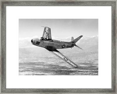 Framed Print featuring the photograph F-86 Sabre, First Swept-wing Fighter by Science Source