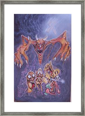 The 5 Evil Spirits Framed Print by Fabian  Rizo