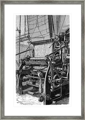 Fabric Colouring Framed Print