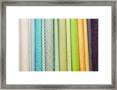 Fabric Colours Framed Print