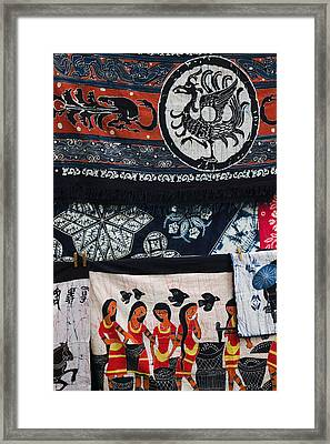 Fabric Items For Sale, Dali, Yunnan Framed Print by Panoramic Images
