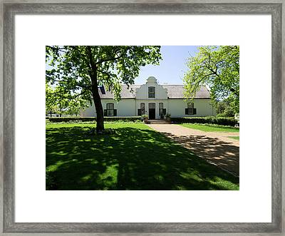 Facade Of A Building, Boschendal, Cape Framed Print