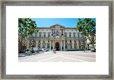 Facade Of A Building, Hotel De Ville Framed Print by Panoramic Images