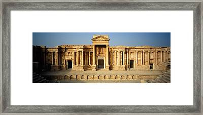 Facade Of A Building, Palmyra, Syria Framed Print by Panoramic Images
