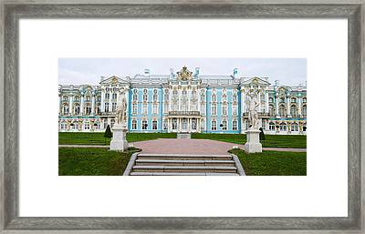 Facade Of A Palace, Tsarskoe Selo Framed Print by Panoramic Images