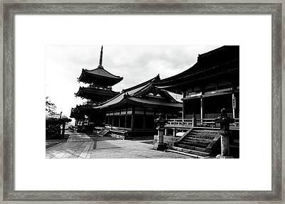 Facade Of A Temple, Kiyomizu-dera Framed Print by Panoramic Images