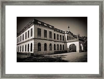 Facade Of Haunted Diplomat Hotel Framed Print