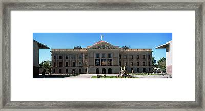 Facade Of The Arizona State Capitol Framed Print