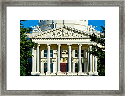 Facade Of The California State Capitol Framed Print