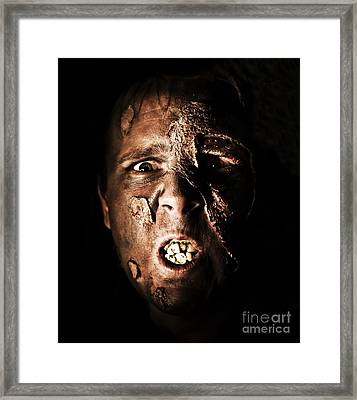 Face Of Death Framed Print by Jorgo Photography - Wall Art Gallery