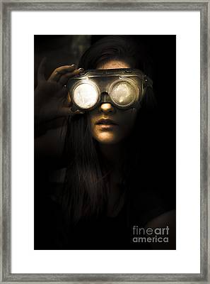 Face Of Industrial Grunge Framed Print