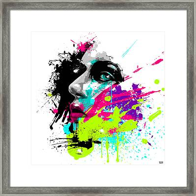 Face Paint 2 Framed Print