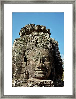 Face Thought To Depict Bodhisattva Framed Print