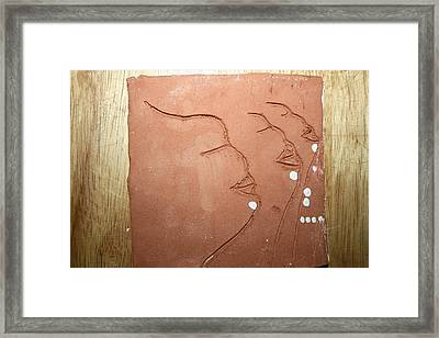 Faces - Tile Framed Print by Gloria Ssali