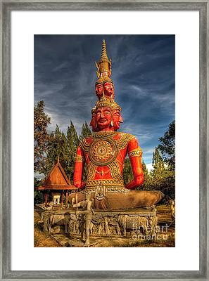 Faces Of Buddha Framed Print