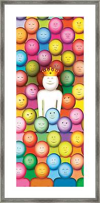 Fade-out And Stand-out Framed Print