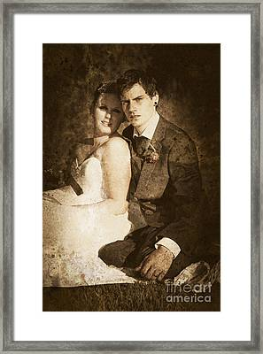 Faded Vintage Wedding Photograph Framed Print