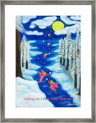 Faery Merry Christmas Framed Print
