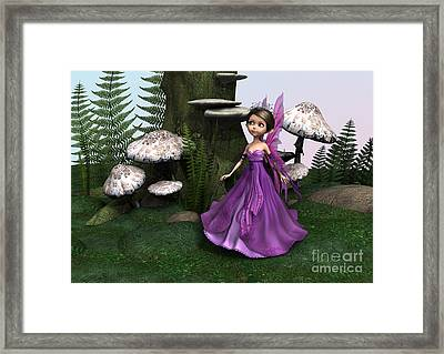 Fairy In Woodland Framed Print by Design Windmill