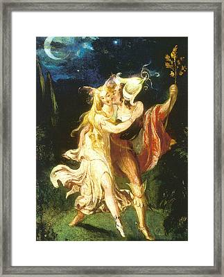Fairy Lovers Framed Print by Theodore Von Holst